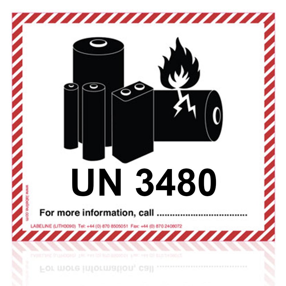 Un3480 Lithium Battery Handling Mark Standard Size