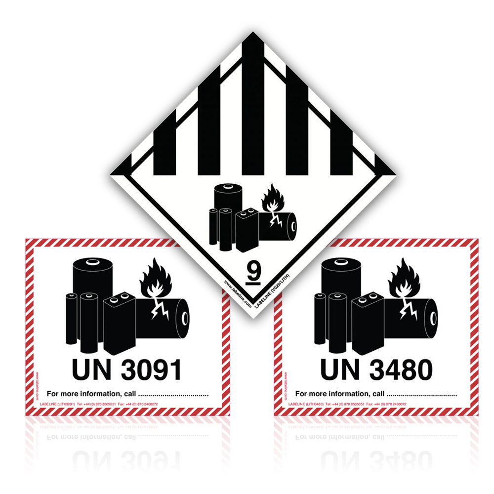 Lithium Ion & Metal Battery Labels
