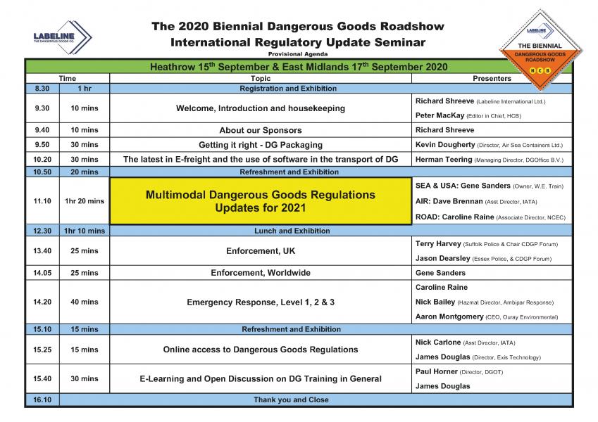 2020 Biennial Provisional Agenda