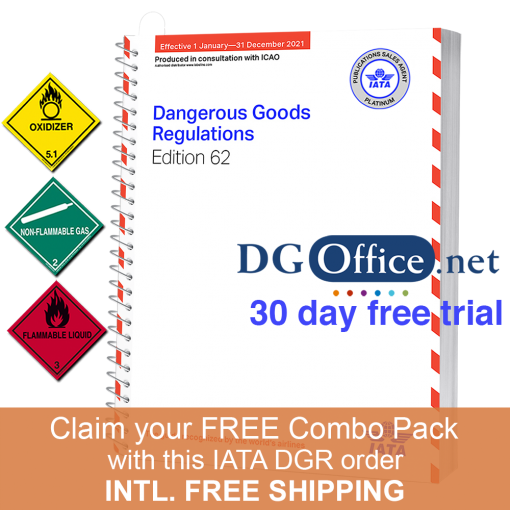 IATA DGR 62nd Edition - Spiral with DGOffice