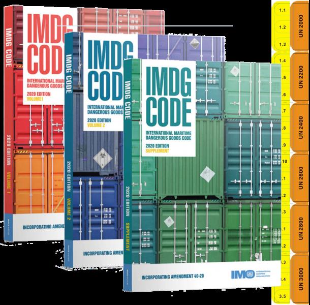 IMDG Code 2020 40-20 Volumes 1 and 2 with Bespoke DGTabs
